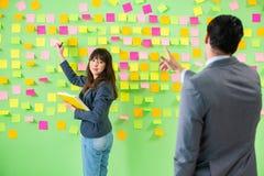 谈论企业的同事未来优先权 图库摄影