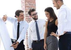 谈论企业的队一个新的想法 图库摄影