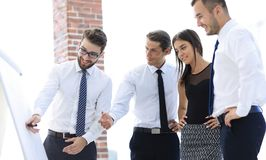 谈论企业的队一个新的想法 免版税库存照片