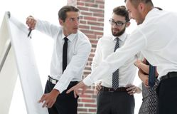 谈论企业的队一个新的想法 库存图片