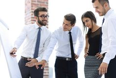 谈论企业的队一个新的想法 库存照片