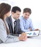 谈论企业的队一个财政计划 库存图片