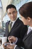 谈论的买卖人外部办公室 免版税库存照片
