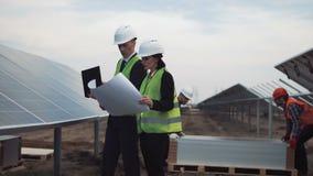 谈论的经理太阳能计划 股票录像