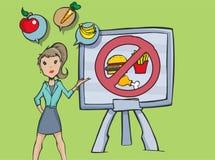 谈论饮食习惯的妇女 免版税库存图片