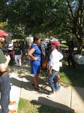 谈话与市长 图库摄影