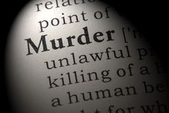 谋杀的定义 库存照片