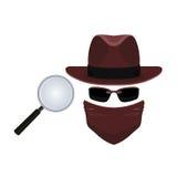 间谍和探员调查 库存照片