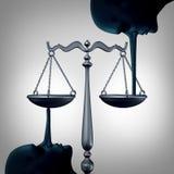 说谎的正义概念 免版税库存图片