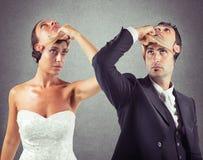 说谎者婚姻 库存照片