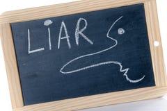 说谎者的概念 免版税库存图片