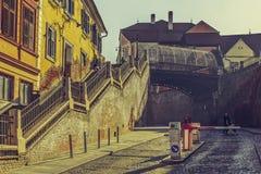 谎言桥梁,锡比乌,罗马尼亚 免版税库存图片