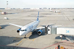 谢列梅机场 节目开始的时间 库存图片