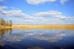 谢利格尔湖的奇妙本质 免版税库存照片