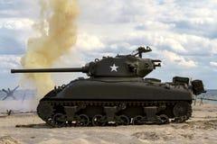 """谢尔曼坦克†""""WW II 免版税图库摄影"""