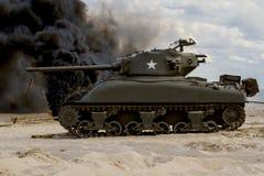"""谢尔曼坦克†""""WW II 库存照片"""