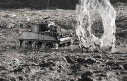 谢尔曼坦克的大模型 图库摄影