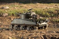 谢尔曼坦克的大模型 库存图片