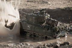 谢尔曼坦克的大模型 免版税库存图片