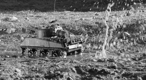 谢尔曼坦克的大模型 库存照片