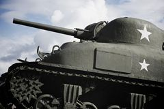 谢尔曼坦克 库存图片