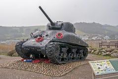 谢尔曼坦克 免版税库存照片