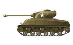 谢尔曼坦克 免版税图库摄影