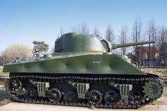 谢尔曼坦克ww2 免版税库存照片