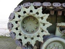 谢尔曼细节的坦克关闭 免版税库存图片