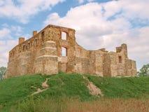 谢维日城堡-一座被破坏的哥特式城堡在波兰 库存照片