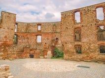 谢维日城堡-一座被破坏的哥特式城堡 库存照片