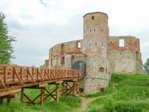 谢维日城堡-一座被破坏的哥特式城堡 免版税库存照片