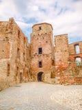 谢维日城堡-一座被破坏的哥特式城堡 图库摄影