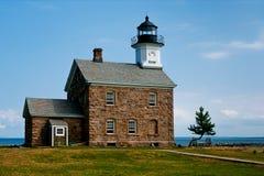 谢菲尔德海岛灯塔在诺瓦克, CT 免版税图库摄影