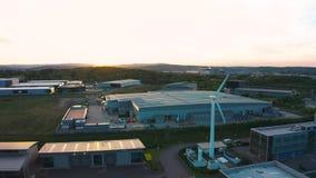 谢菲尔德,英国- 2019年5月20日:谢菲尔德Universitys空中英尺长度推进了制造业研究中心 股票视频