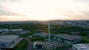 谢菲尔德Universitys AMRC,南约克郡,英国空中英尺长度  影视素材
