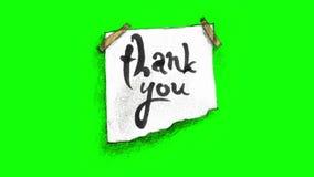 谢谢在绿色屏幕上的注意和蟑螂 向量例证
