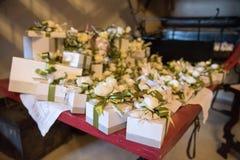 谢谢礼物结婚宴会 免版税库存照片
