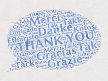 谢谢词用不同的语言 免版税库存照片