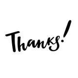 谢谢:传染媒介被隔绝的例证 刷子书法,手字法 激动人心的印刷术海报 免版税图库摄影