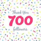 谢谢700个追随者网络岗位 库存图片