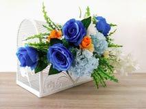 谢谢-词组,木头-材料,花束,花, 免版税库存照片