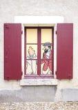 谢韦尔尼,法国- 5月29 :Tintin看法2014年5月29日的在车公 免版税库存照片