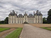谢韦尔尼Castel在卢瓦尔河流域,法国- 2012年7月10日-前面 免版税库存图片