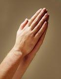 谦逊的祷告 免版税库存照片