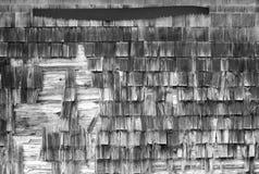 谷仓生锈的锯墙壁 库存图片