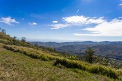 谷和泰国的美丽的天空的风景 图库摄影