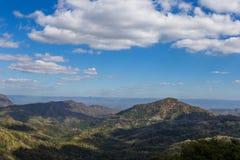 谷和泰国的美丽的天空的风景 免版税库存照片
