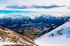 谷在卑尔根 免版税库存照片