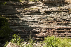 谷岩石面孔 图库摄影